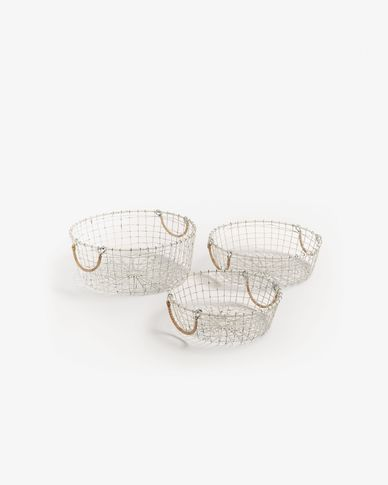 Denise set of 3 baskets 2 handles