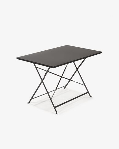 Table rectangulaire Alrick graphite 110 x 70 cm