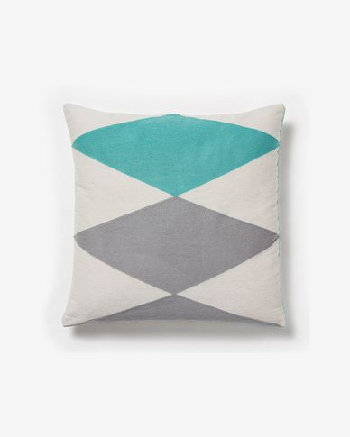Vand  cushion cover turquoise