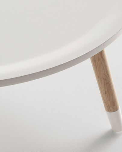 Hudson Auxiliary table, white and natural