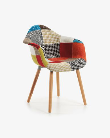 Kevya patchwork multicolor armchair