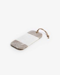 Atla cutting bord brown and white marble
