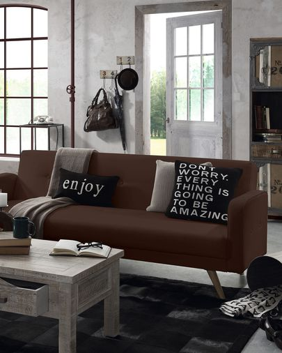 Roger sofa bed brown