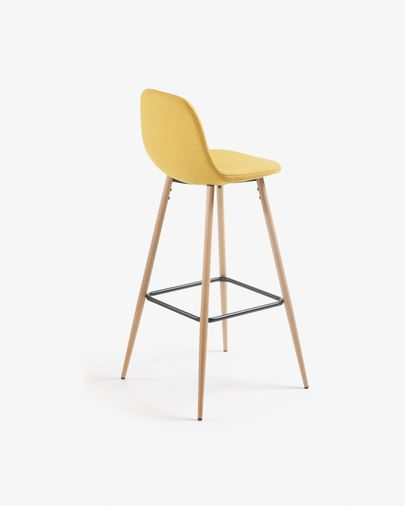 Marvelous Mustard Nolite Barstool Height 75 Cm Gmtry Best Dining Table And Chair Ideas Images Gmtryco