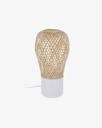 Lampe de table Derora blanc