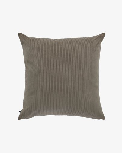 Dark grey corduroy Namie cushion cover 60 x 60 cm