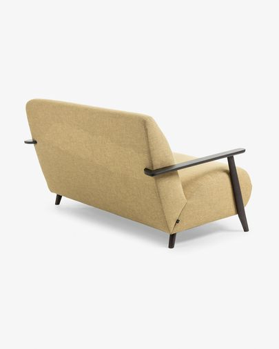 Meghan sofa 2 seaters  mustard dark finish 145 cm