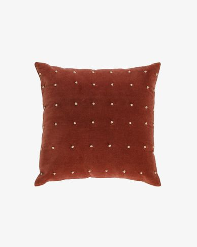 Aines maroon corduroy cushion cover 45 x 45 cm