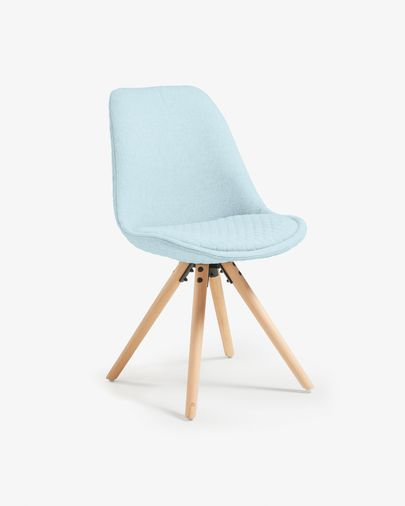 Ralf chair fabric light blue and natural