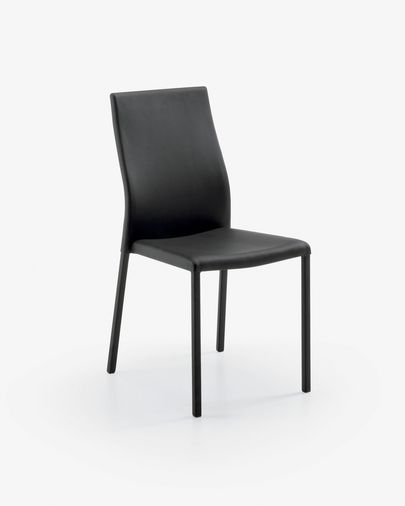 Abelle chair black leather
