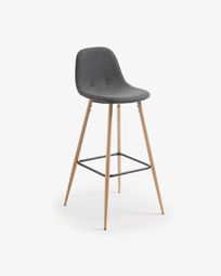 Dark grey Nolite barstool height 75 cm