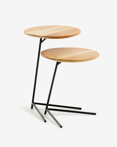 Ensemble Asha de 2 tables d'appoint Ø 40 cm / Ø 40 cm