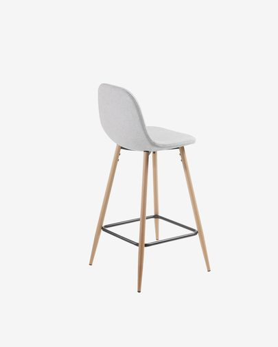 Light grey Nolite stool height 65 cm