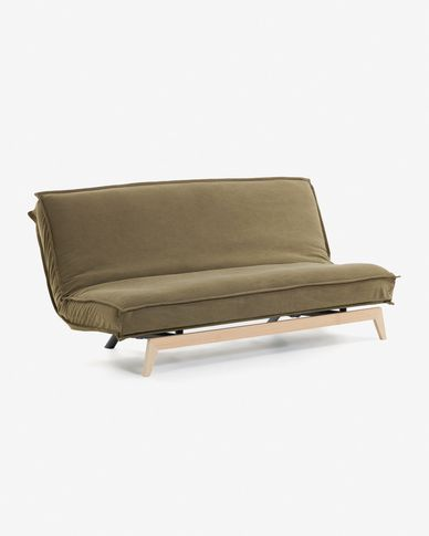Eveline sofa bed 195 cm brown wood structure