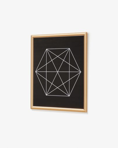 Raka picture hexagon 44 x 54 cm