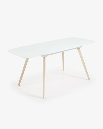 Table extensible Smoth 140 (210) x 88 cm blanc