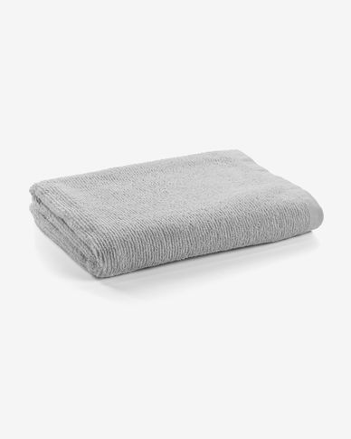 Miekki large bath towel light grey