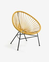 Fauteuil Samantha moutarde
