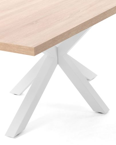 Argo table 160 cm natural melamine white legs