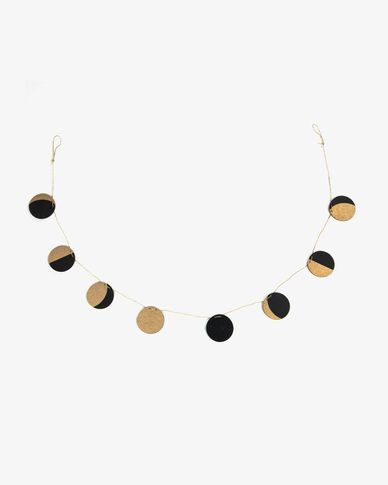Astrea black background lunar phase garland