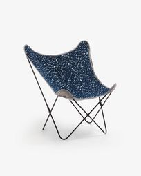 Armchair Fly terrazzo blue