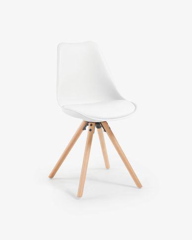 Ralf chair white and natural