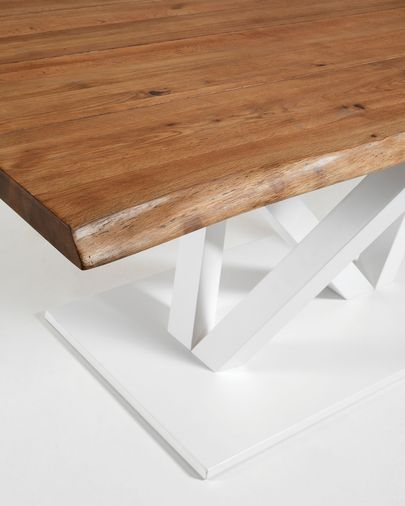 Nyc table 220x100, epoxy white antique oak