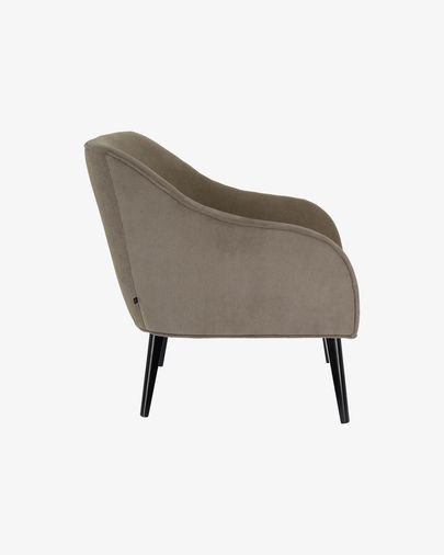 Bobly corduroy armchair in grey