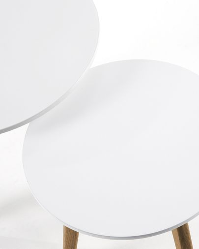 Kirb set of 2 side tables round  Ø 50 / Ø 40 cm white