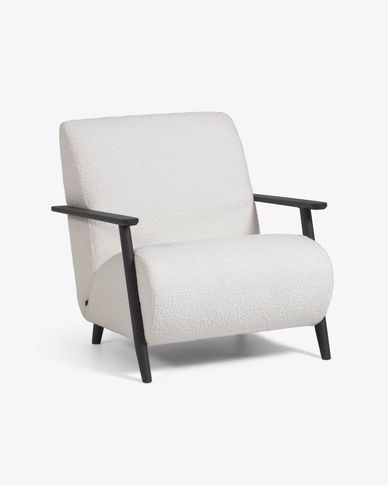 Meghan armchair white shearling effect