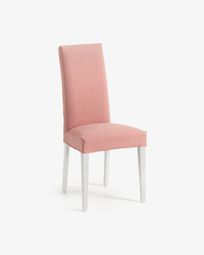 Freda chair pink and white