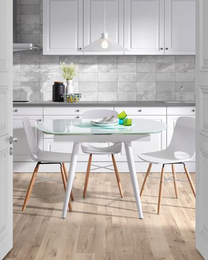Slow extendable table white