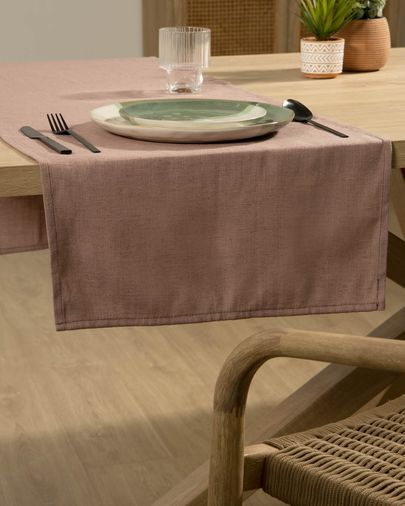 Chemin de table Samay rose
