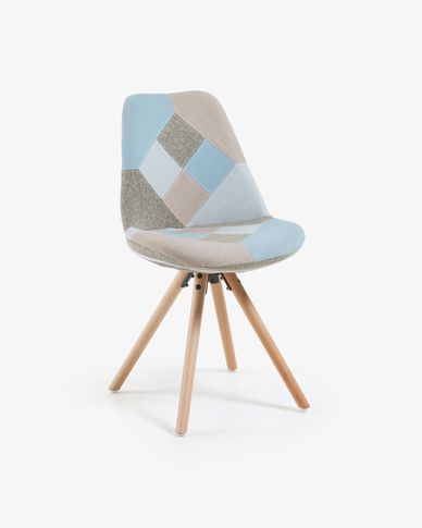 Ralf chair patchwork blue