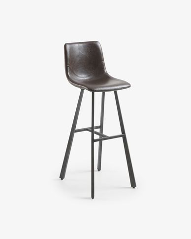 Dark brown Trap barstool 116 cm