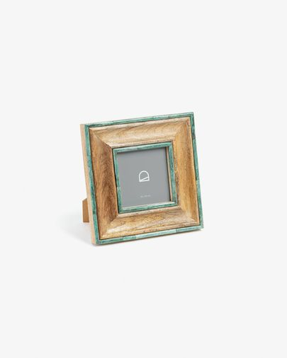 Photo frame Darleen 22 x 27 cm wood green bone