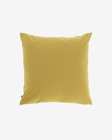 Mustard-yellow Nedra cushion cover 45 x 45 cm