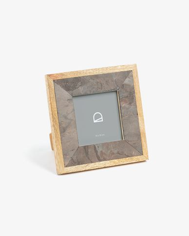 Photo frame Dunna 19 x 19 cm wood stone