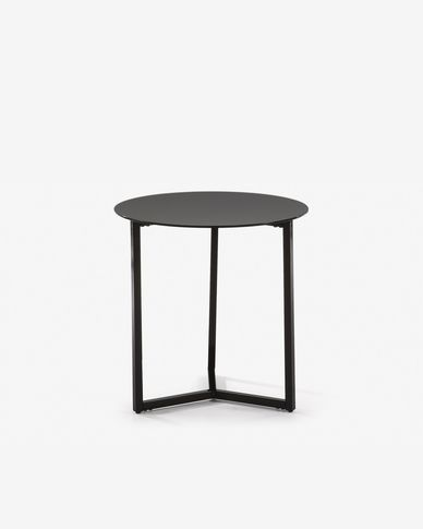 Black Raeam side table Ø 50 cm