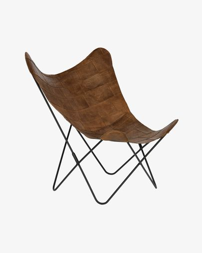 Patchwork leather Fly armchair