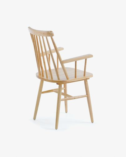 Tressia chair natural with armrests