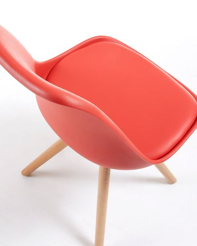 Ralf chair, red and natural