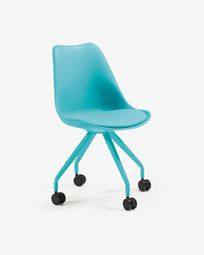 Ralf chair leg epoxy blue