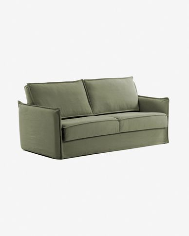 Samsa sofa bed 140 cm polyurethane green