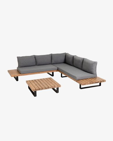 Zalika 5-seater corner sofa and table set