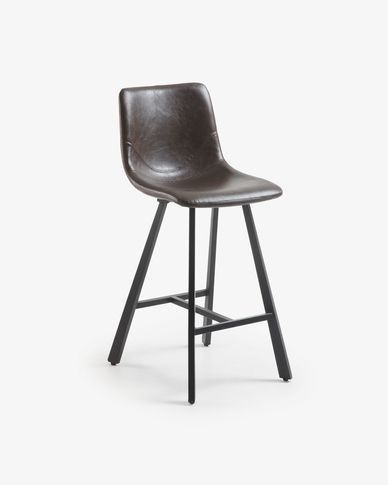Dark brown Trap barstool
