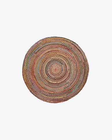 Saht carpet Ø 100 cm multicolor