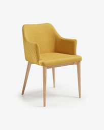 Mustard Croft chair natural finish