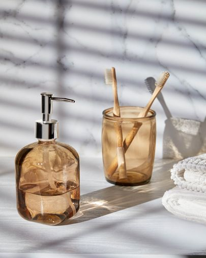 Trella brown soap dispenser