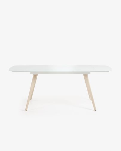 Smoth extendable table 120 (180) x 80 cm white